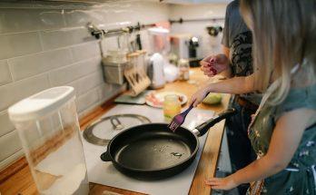 patelnia w kuchni